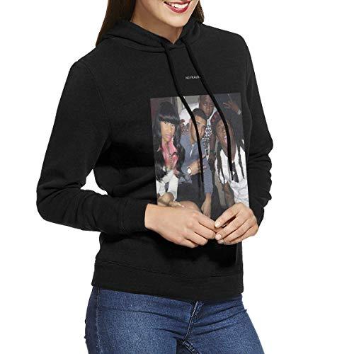 NAasks Kapuzenpullover, Nicki Minaj No Frauds Women Comfort Hoodie Sweatshirt Black