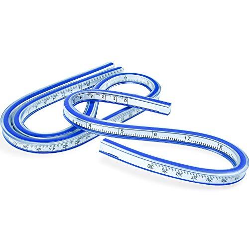 SANTOO 2 Stück Flexibles Kurvenlineal Maß Werkzeug 30CM + 60CM für Zeichnen Mal Grafiken Kleiderdesign Maß Werkzeug