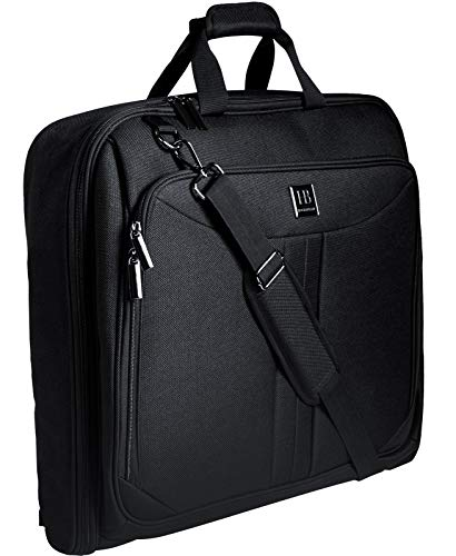 Reise Kleidersack, Anzughülle für 3 Anzüge, Anzugtasche für Herren mit Stärkster Haken, großer Reisetaschen Kleiderträger Kleidertasche Handkoffer Kleiderschutzhülle hängende Tasche Schwarz