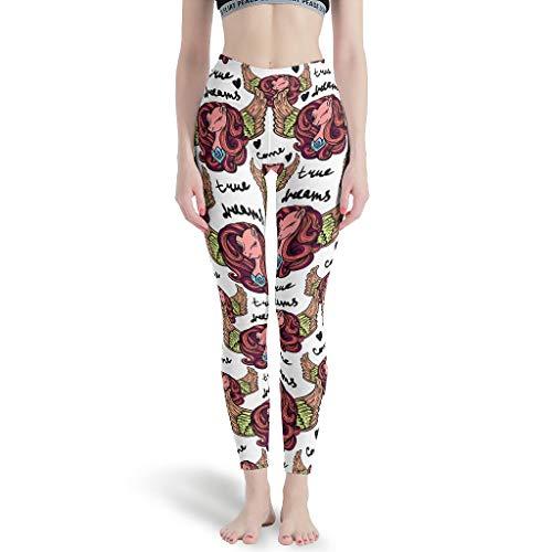 Charzee yogabroek voor dames, met patroon, leggings, sport, yoga, joggingbroek, skinny legg
