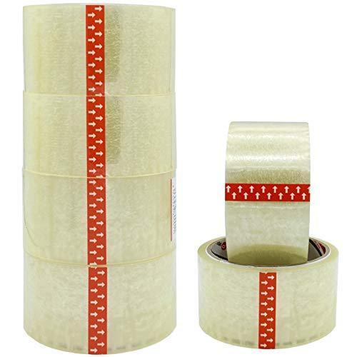ZCENTER 6 Rollos Cinta Embalar 48MMx40M Cinta embalaje Cinta adhesiva para Cajas y Paquetes-Color Transparente