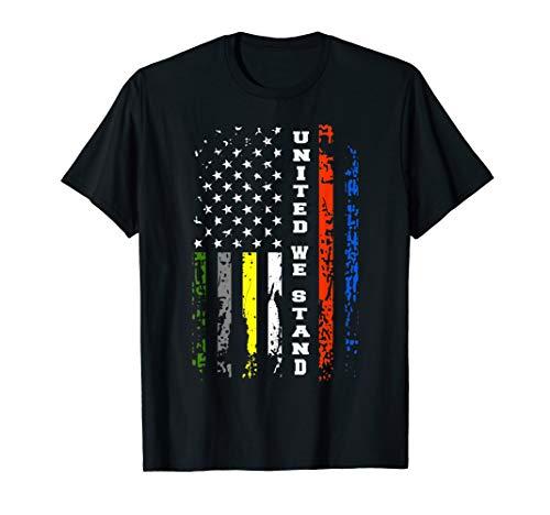 First Responder Thin Line Shirt Patriotic American Flag Gift T-Shirt