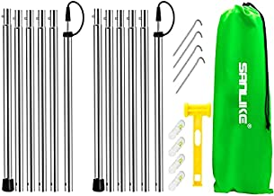 SANLIKE Tent Poles for Tarp Adjustable Tarps Shelter Pole Kits Awning Stainless Steel Rods Replacement Thickened Camping Poles - 95 in Set of 2