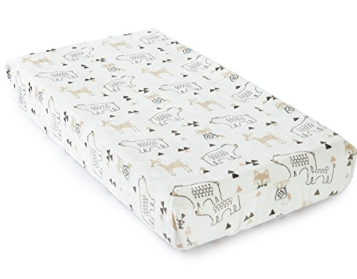 Levtex Baby Bailey Charcoal and White Changing Pad Cover