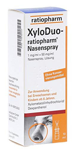 Nasenduo Ratiopharm Nasenspray Erwachsene Sparset 10 x 10ml