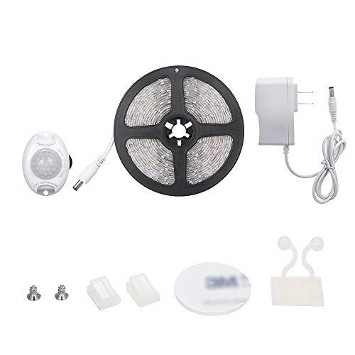 LED-Streifen-Set mit PIR Bewegungsmelder, 3m LED Band Lichterkette Bänder Hintergrundbeleuchtung ,LED Bänder Induktion LED Nachtlampe Innen außen Beleuchtung Full Kit für Kleiderschrank Kabinett