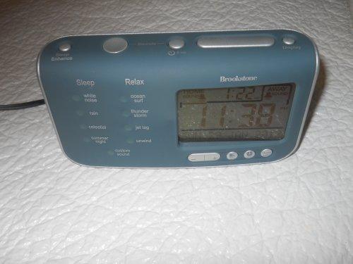 Brookstone Travel Tranquil Moments Alarm Clock Sleep Sounds Machine