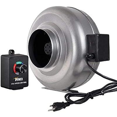 iPower Duct Inline HVAC Exhaust Blower Ventilation Fan