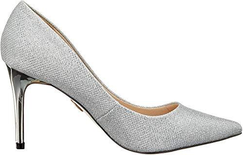 Buffalo Damen Fanny Pumps, Grau (Silver Mesh Metallic 001), 39 EU
