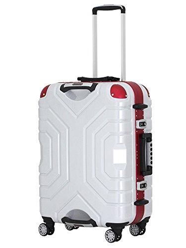 (シフレ)siffler スーツケース ESCAPE`S グリップマスター B5225T-58 58cm ヘアラインブラック/レッド