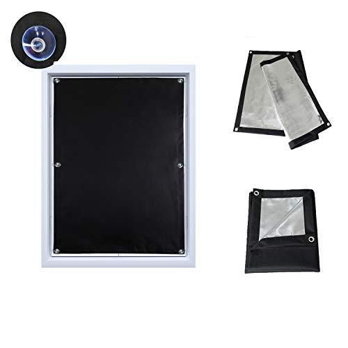 Dachfensterrollo mit Saugnäpfe Verdunkelungsvorhang für Velux 76x115cm Verdunkelungsrollo tragbare Gardinen Sonnenschutz für Kinderzimmer Dachfenster