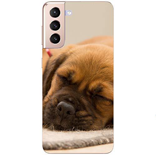 printhafen.de Funda de silicona para cualquier modelo posible – Perro durmiendo – Carcasa trasera – Tipo de paquete del cliente: sin protector de pantalla, tamaño: compatible para Xiaomi Mi 10T Lite.