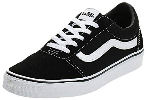 Vans Damen Ward Suede/Canvas Sneaker, Schwarz Black/White Iju, 42 EU