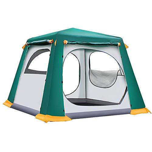 JOMSK Tiendas de campaña Impermeables instantáneos de configuración rápida de la Familia itinerante de Camping y Escalada Tienda Impermeable portátil Carpa Familiar (Color : Green, Size : One Size)