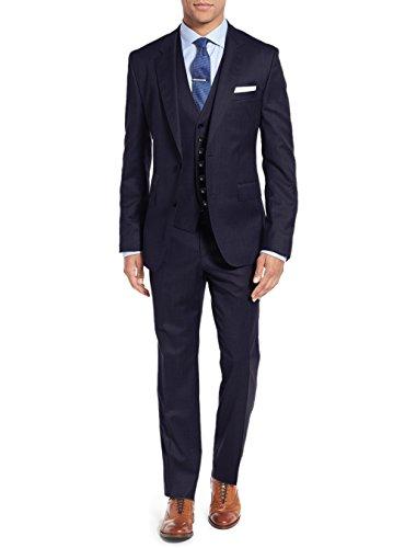 Salvatore Exte Men's Vested Three Piece Suit Blazer Jacket Dress Vest Plus Pant