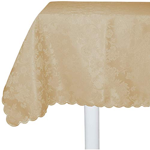RICAMI FIORENTINI BALDI Set 8 tovaglioli antimacchia da Abbinare alla tovaglia. Cm 40x40. Tessuto antimacchia No Stiro, Orlo Smerlato. Molto Resistente. Prodotto Artigianale Toscano. Crema 03