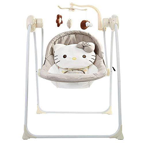 WANGXIAO Baby Bouncer stoel, elektrisch, geschikt vanaf de geboorte, 0 maand +snelle installatie, geweldig cadeau.