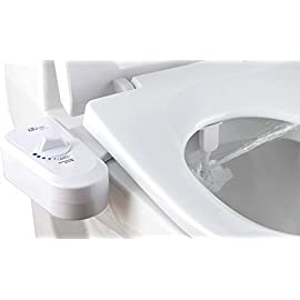 Bio Bidet SlimEdge Simple Bidet Toilet Attachment in White with Dual Nozzle, Fresh Water Spray, Non Electric, Easy to Install, Brass Inlet and Internal Valve 3 <p>STRONG SITTABLE LID- a feature not available on most bidet seats, offers you the support and function you are looking for in a new bidet seat COMPACT DESIGN – compared to traditional bidet seats, only 4 inches tall in the back, looks like a standard toilet seat, with more features RETRACTABLE DUAL NOZZLE offers refreshing hygienic wash that is kid friendly. Improves hygiene and is Eco Friendly, posterior wash for Him and Feminine wash for her CHROME PLATED side control lever offers easy to use access to pressure control valve – create an experience that blends comfort and ease of use. All the while helping to keep your bathroom tidy with a highly effect splash guard SOOTHING NIGHTLIGHT - two stage battery powered nightlight is convenient for those late night trips to the bathroom</p>