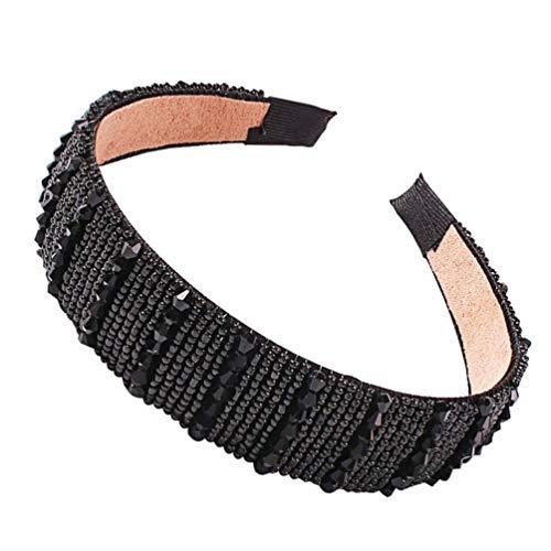 Pixnor Bandeaux en Cristal Cerceau de Cheveux Broadside Perlé Chapeaux Accessoires de Cheveux de Mariage pour Fille Femmes de Mariée