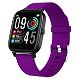 Gushull Fitness Tracker Watch Heart Rate Monitor, Smart Watch Activity Tracker Watch with Calorie Counter, Pedometer Watch for Women Men and Gift (Purple)