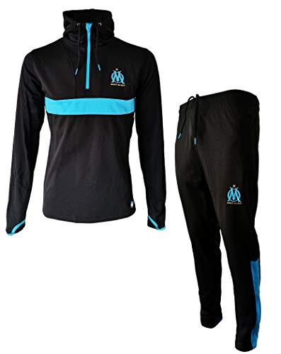 Trainingsanzug OM - offizielle Kollektion von Olympique de Marseille - Erwachsenengröße Herren S Schwarz
