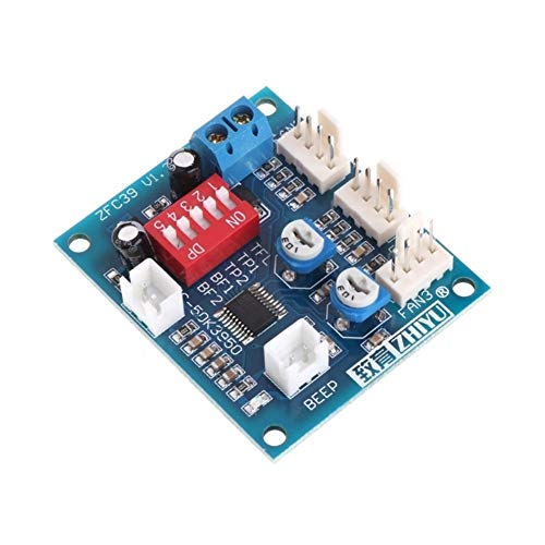 LIZONGFQ Zhang Asia 12 V CPU Lüfter Temperatursteuerung PWM Geschwindigkeitsregler Modul Alarm Buzzer Sensor