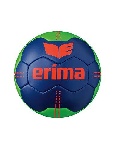 Erima Unisex– Erwachsene Pure Grip No. 3 Handball, New Navy/Green, 2