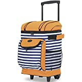 Travelers Club 18' Cool Carry Insulated Rolling Cooler, Cabana