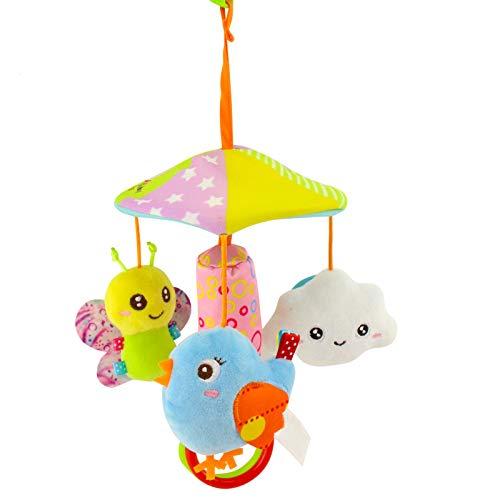 dontdo Música giratoria cochecito de bebé colgante cama Campana colgante cuna decoración no tóxico juguete sonajero para bebé # B