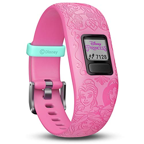 Garmin vívofit jr. 2 digitale, wasserdichte Action Watch im Disney Prinzessinnen Design für Mädchen ab 6 Jahren, mit spannender Abenteuer-App, Schrittzähler, pink, Batterielaufzeit bis zu 1 Jahr