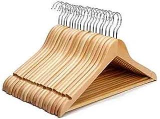 20pcs Wooden Clothes Hangers Coat Pant Suit Coathangers Rack Wardrobe