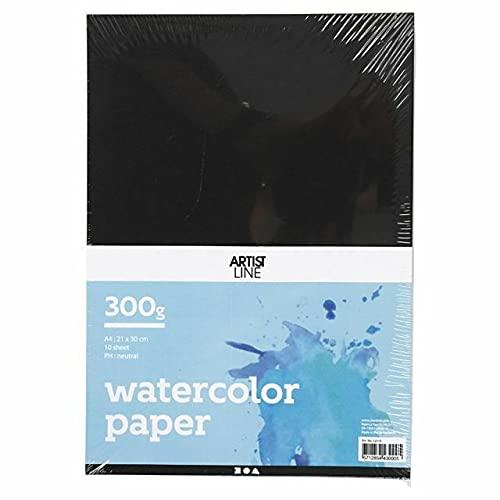 Papel de acuarela Negro (300g/M2, 10pcs) A4, papeles de acuarela, cuadernos de bocetos, suministros de arte