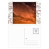 赤い星の空の雲 公式ポストカードセットサンクスカード郵送側20個