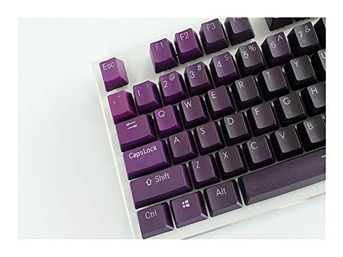 lifebea Weiße mechanische Tastatur 108 Tasten MP 104 Tasten Thick PBT Lila Gradient Double Shot-Hintergrundbeleuchtung Keycap Profil for verdrahtete USB Mechanische Tastatur Keyboard Piano 108 Tasten