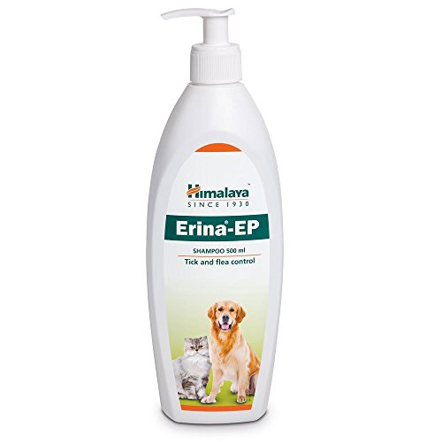 Himalaya Pupkart Antimicrobial/Antifungal/Tick and Flea Control Erina-EP Shampoo for Dogs and Cats with Pet Sutra Complimentary 500 ml (Multicolour)