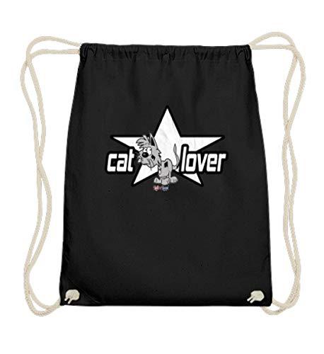 Cat Lover - Bolsa de gimnasio de algodón para amantes de los...