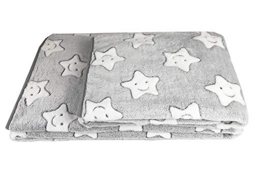 LeerKing Mantas de Franela súper Suaves y cálidas para Perros y Gatos Manta de Felpa Lavable para Mascotas, Gris 150 x 100 cm