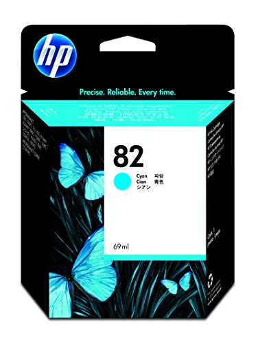HP 82 Cyan 69-ml Genuine Ink Cartridge (C4911A) for DesignJet 820MFP, 815MFP, 800, CC800PS, 510, 500, 500 Plus & 500ps Large Format Printers