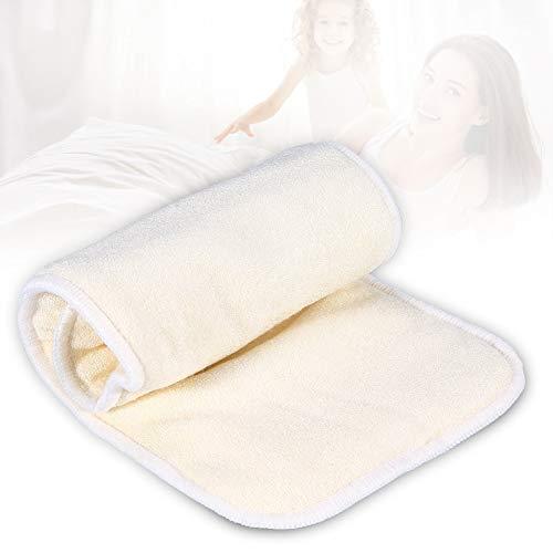 1PC 5 Pannolini carbone,strati di tessuto, inserendo uno strato di tessuto di bambù naturale, cotone notte lavabile, inserimento pannolini riutilizzabili lavabili riutilizzabili pad per adulto
