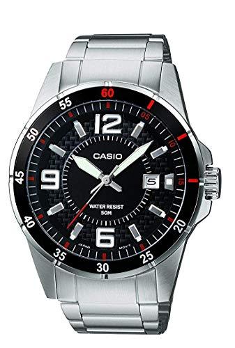 baratos y buenos Reloj de cuarzo analógico para hombre Casio, correa de acero inoxidable MTP-1291D-1A1VEF calidad