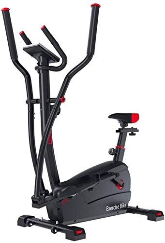 Macchina ellittica di controllo magnetico dell'attrezzatura per il fitness indoor Mute passo-passo Camminatore spaziale Portante regolabile 100kg Uso palestra (Colore: NERO Dimensioni: 52 5 * 114 *