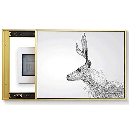 TCYLZ Nueva Caja de Metro eléctrico Caja de Pintura Decorativa Oclusión Interruptor Principal Decoración Sala de Estar Pintura Mural (Color: Negro, tamaño: (6050 cm 4540cm))