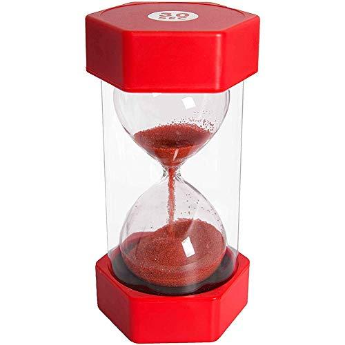 CHUTD Hourglass Sand Timer, 5/10/15/30 Minutes, sablier de sécurité pour Enfants à Double Protection, éducation en Classe et Jeu sensoriel, pour Enfants, Salle de Classe, Cuisine, Jeux, décoration