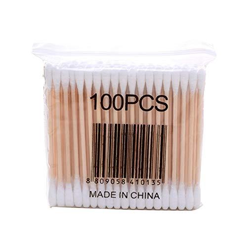 Paquet de 100 Ensemble de cotons-tiges pointus jetables 10/cm