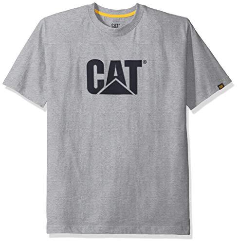 Caterpillar Men s Tm Logo T-Shirt  Heather Grey  Large