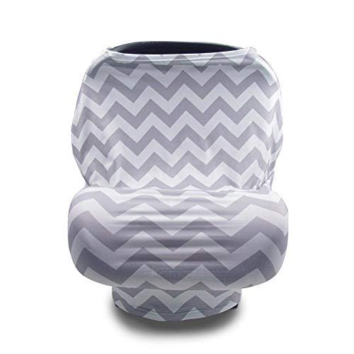 VIVILIAN Funda de lactancia para asiento de coche, cubierta para asiento de coche, cubierta para cochecito de bebé, bufanda de lactancia para bebés