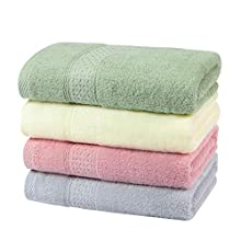 Yoofoss Juego de 4 Toallas de Mano 100% algodón 50x100 cm Toallas de Mano Ligeras y Altamente absorbentes Toallas de baño Toallas de Mano Salviet
