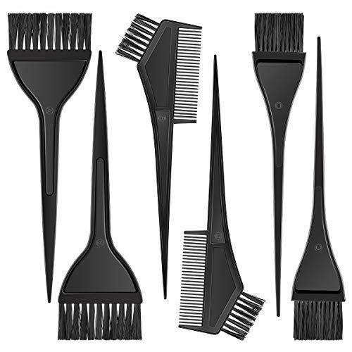 MELLIEX Färbepinsel, Haarfärbepinsel Set 6 Teiliges Haarfärbeset Salon Tool, Für Zuhause Salon Mischen und Zur Anwendung von Haarfärbemittel