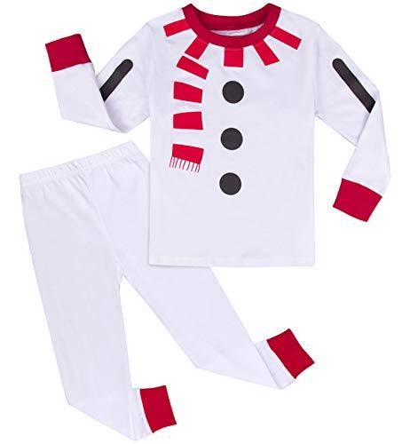 mintgreen Pijama Navidad Bebé Niño Disfraz Muñeco de Nieve Manga Larga...