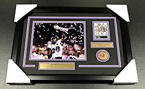 Ed Reed Baltimore Ravens Sb Xlvii Signed Autographed Card Framed 8x10 Photo - Autographed NFL Photos